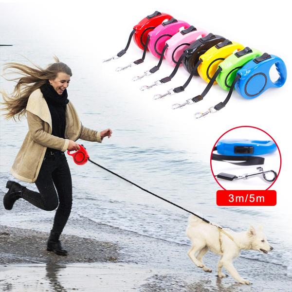 HCM-Dây dắt chó mèo tự động - Hàng công ty -HCM- – Dây dắt mèo- Dây dắt tự động co rút (3m và 5m) màu ngẫu nhiên dùng cho chó mèo dưới 20kg