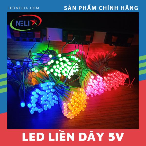 Led liền dây (led ruồi) 5mm điện áp 5V làm biển vẫy quảng cáo, tiết kiệm điện áp, bền màu.