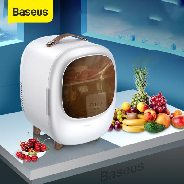 Baseus Tủ lạnh mini dung tích 8L có hai chế độ nóng à lạnh, tủ lạnh mini dành cho gia đình nhỏ, xe hơi, du lịch - INTL