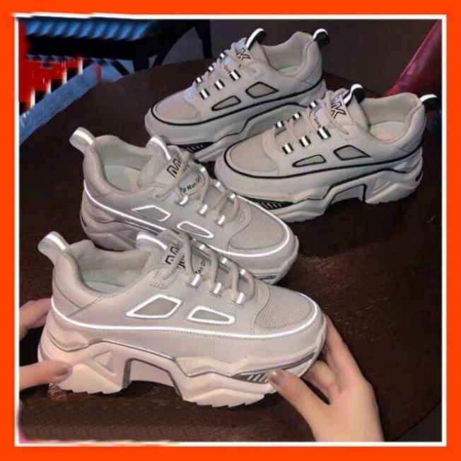 [ LOẠI 1+ FULL BOX] Giày thể thao nữ Ulzzang phản quang MK 2 màu đơn giản đen trắng dễ phối đồ đế êm cao 6cm cực hót giá rẻ