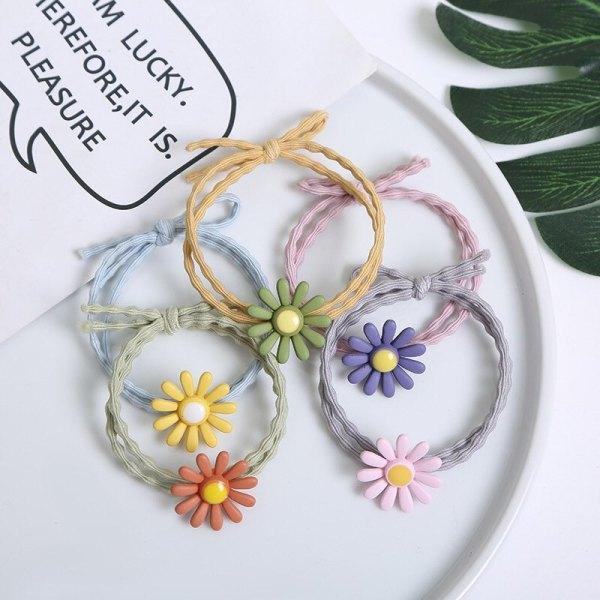 Dây thun cột tóc mẫu hoa cúc siêu dễ thương dành cho bạn gái - Sara Accessories