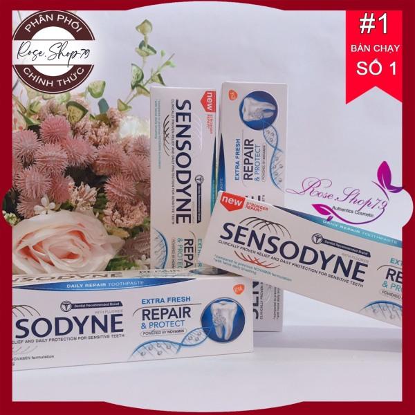 Kem đánh răng Sensodyne - Kem đánh răng phục hồi giảm ê buốt Sensodyne, shop cam kết 100% sản phẩm chính hãng nội ngoại nhập, bảo hành 1 đổi 1 nếu sản phẩm lỗi giá rẻ