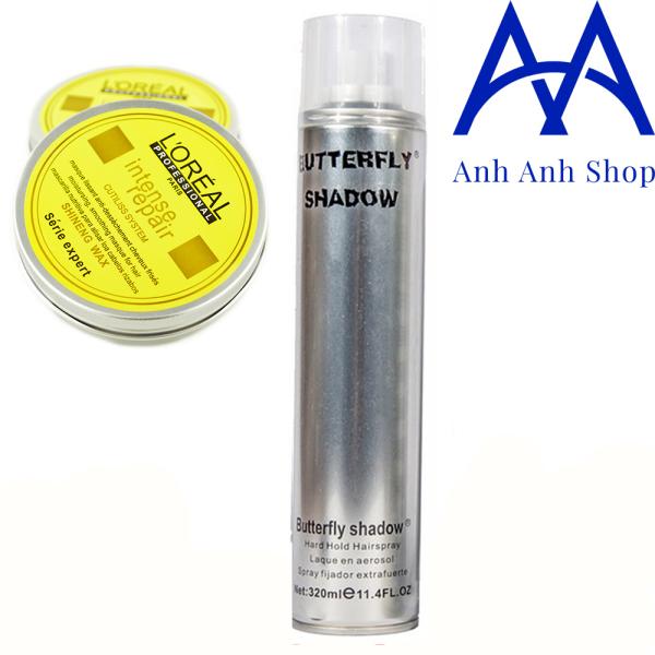 Sáp vuốt tóc Nhãn vàng + Gôm Bạc xịt tóc Butterfly Shadow 320ml giá rẻ