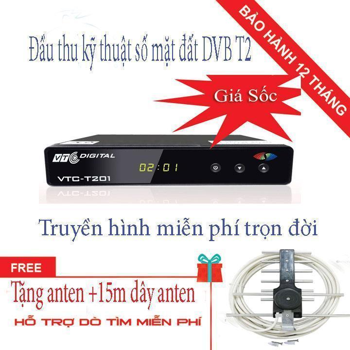Bảng giá ĐẦU THU KỸ THUẬT SỐ  VTC T201 TẶNG  ANTEN KÈM 15M DÂY CÓ ĐÚC SẴN ZẮC Điện máy Pico