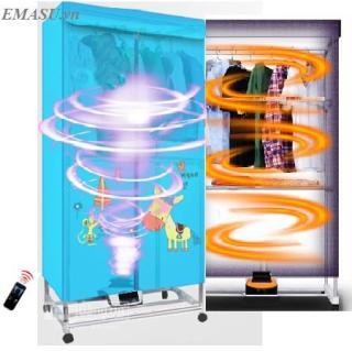 [ Giảm Gía 50% ] Tủ sấy quần áo Panasonic HD-882F tiết kiện năng lượng điện có điều khiển từ xa UV sấy khô-Tủ sấy quần áo 2 tầng HD-882F công nghê tiết kiệm điện (dung ti ch 15kg) - Máy sấy quần áo Bảo hành 2 năm thumbnail