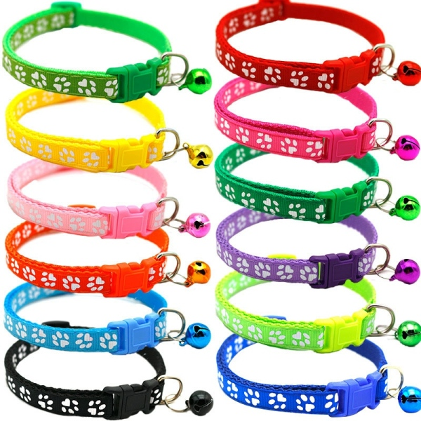Cat Collar and Bell with Safety Quick Release Break Away Buckle, Suitable and Adjustable (12 Pcs) Adjustable 19-32cm