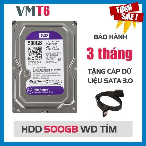 Bảng giá Ổ cứng camera HDD WD Purple 500GB tím - Hàng nhập khẩu bảo hành 03 tháng ! Phong Vũ