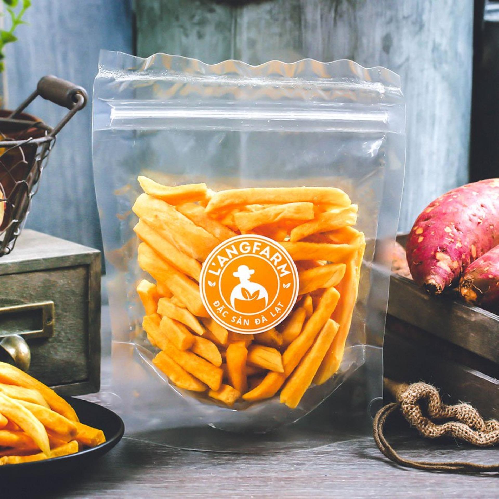 Snack Khoai Lang Vàng Cắt Sợi L'angfarm - bịch 125g