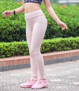 Quần legging dáng dài (mầu nude) thun lạnh, co giãn 4 chiêu cho sz từ 40 - 60kg thumbnail