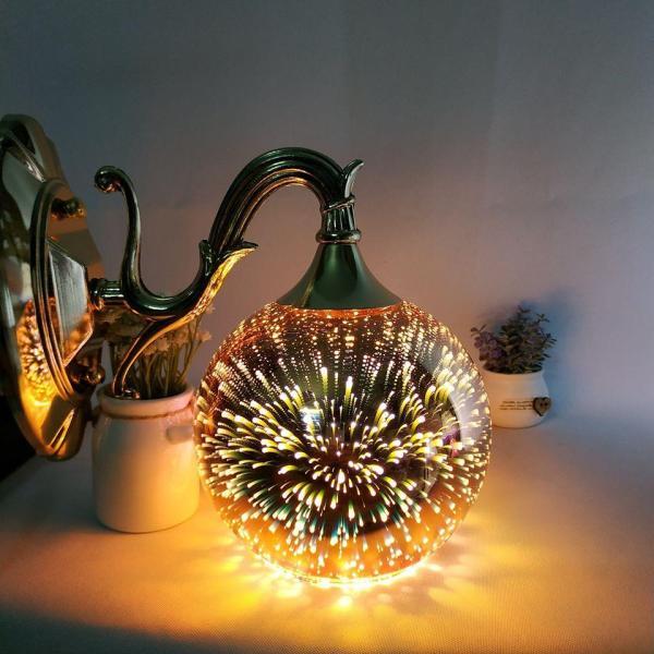 Đèn gắn tường - đèn tường - đèn vách 3D CROWN cao cấp mạ vàng lung linh