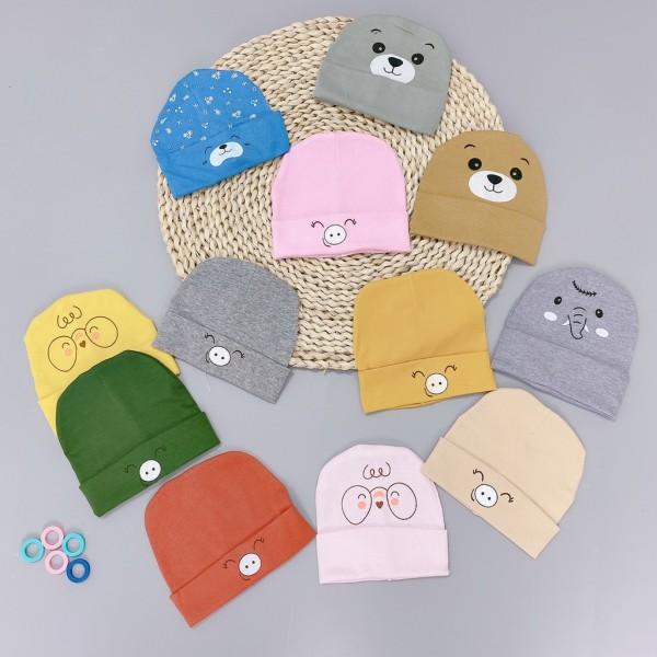 Mũ sơ sinh Hình Thú chất cotton mềm mại , ấm áp tiện lợi, hàng siêu đẹp cho bé trai, bé gái