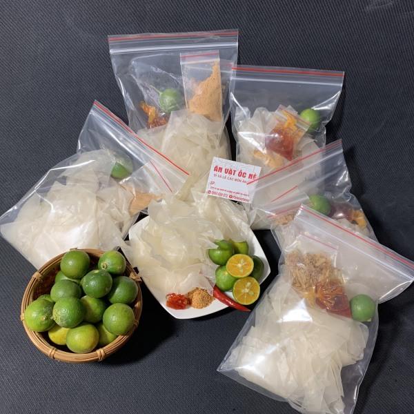 [5 bịch] Bánh Tráng Sate Muối Nhuyễn Cay Chua Mềm Dẻo - Ăn Vặt Ốc Nè