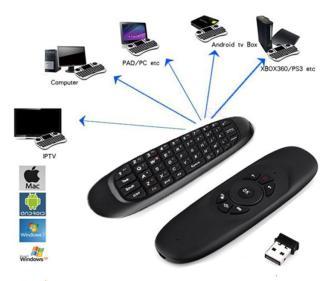 Điều khiển chuột bay tìm kiếm giọng nói Remote Mouse Air C120 nhạy thumbnail