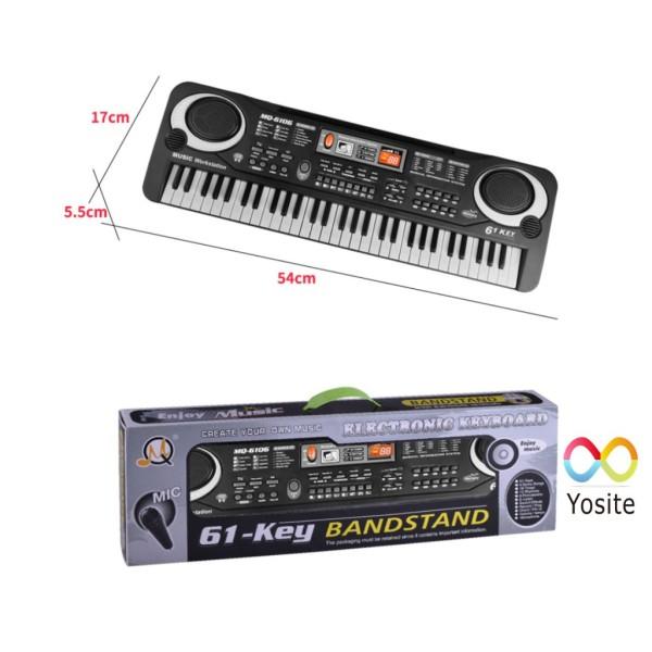 [Thu thập mã giảm thêm 30%] [SIZE M] Đàn Piano Đàn Điện Tử 61 Phím Kèm mic Cho Bé Đàn Organ - Kèm video HDSD