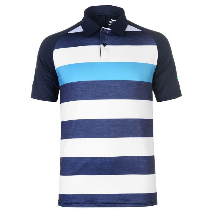 Áo thun thể thao nam Slazenger Performance Bold Polo (màu Navy/White) - Hàng size UK