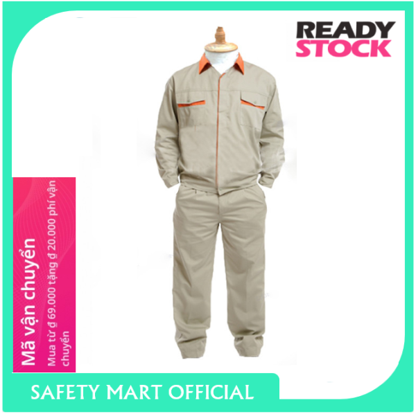 Quần áo bảo hộ lao động kỹ sư TINBA 04 cao cấp, vải Kaki hàn quốc thoáng mát