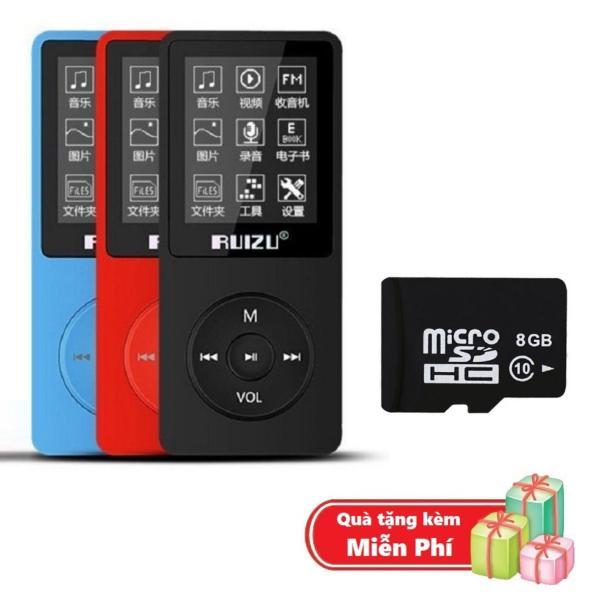 ( Quà tặng Thẻ nhớ Micro SD 8G ) Máy nghe nhạc mp3 Ruizu X02 bộ nhớ trong 8G hỗ trợ thẻ nhớ lên đến 64G cao cấp