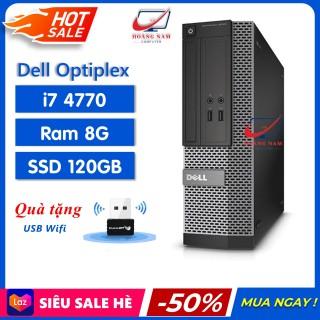 [Trả góp 0%] Máy Bộ Dell i7 Freeship Case Đồng Bộ Giá Rẻ - Dell Optiplex 3020 7020 9020 (i7 4770 Ram 8GB SSD 120GB) - Hàng Chính Hãng - Bảo Hành 12 Tháng - Tặng USB Wifi thumbnail