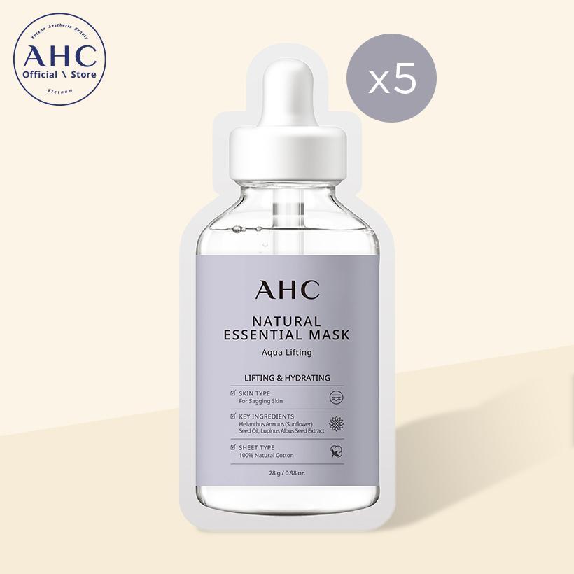 Mặt nạ AHC Natural Essential Mask Aqua Lifting 28g x 5 miếng