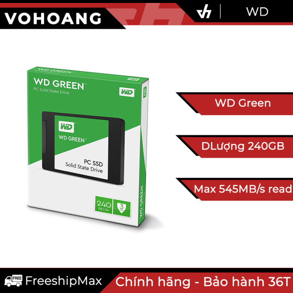 Bảng giá SSD 240GB WD Green - Ổ cứng thể rắn chính hãng, tốc độ cao, bảo hành 3 năm Phong Vũ
