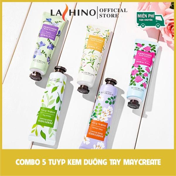[COMBO 5 TYPE] Kem dưỡng tay Maycreate Dưỡng da tay mềm mịn không bị khô da hương thơm dễ chịu 30gr LASHINO