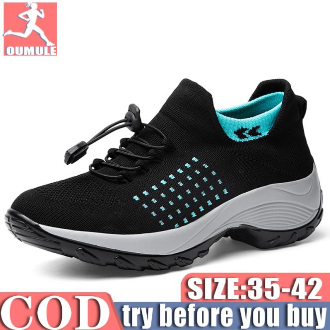 JAYER giày nữ Giải trí giày thể thao bít tất  giày Thoáng khí (35-40) giá rẻ