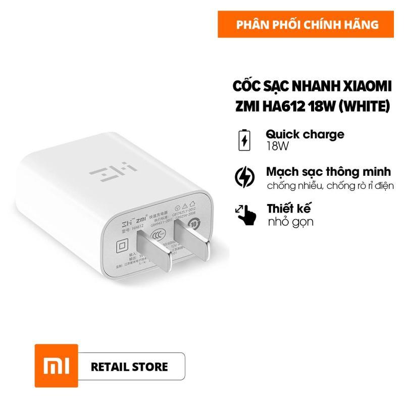 [HÀNG CHÍNH HÃNG] Cốc sạc nhanh Xiaomi ZMI Quick Charge 3.0 18W l Nhựa ABS l Mạch sạc thông minh l Tốc độ sạc nhanh hơn gấp 8 lần