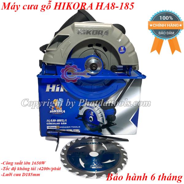 Máy cưa gỗ HIKORA HA8-185A-Máy cưa đĩa cầm tay-Tặng kèm lưỡi cưa D185mm-Công suất 1650W-Bảo hành 6 tháng-Hàng chính hãng