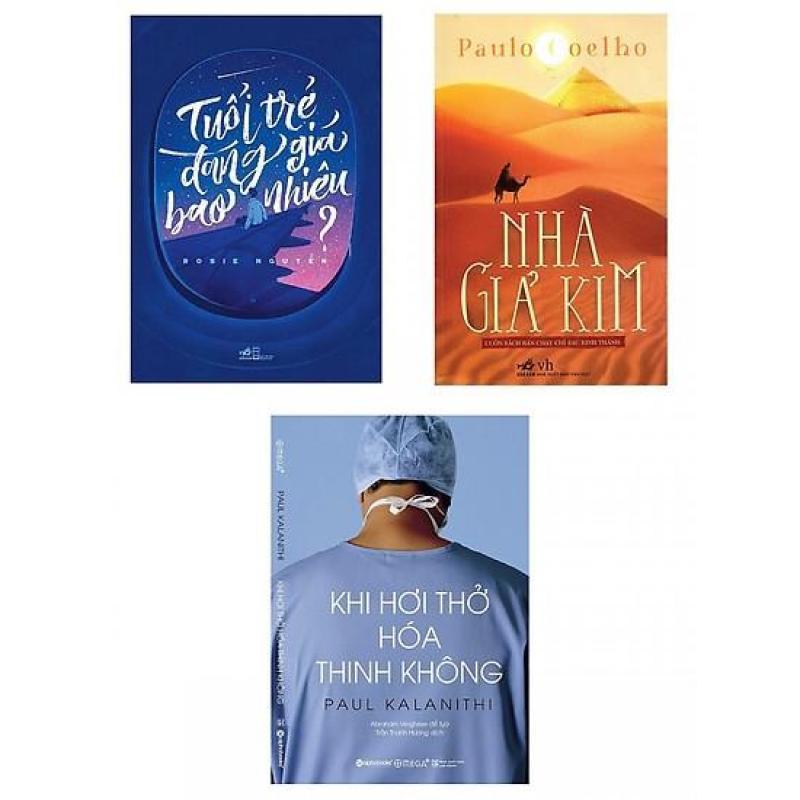 Mua Combo sách Nhà Giả Kim + Tuổi Trẻ Đáng Giá Bao Nhiêu + Khi Hơi Thở Hoá Thinh Không