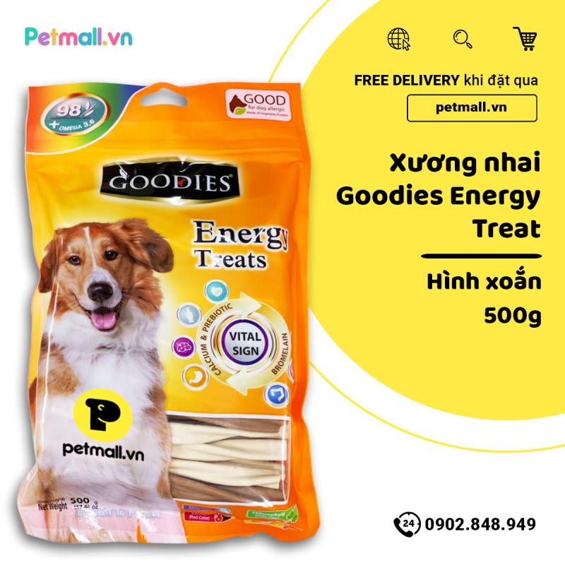 Snack GOODIES cho Chó nhiều vị 500g (que xoắn tròn nhập Thái)