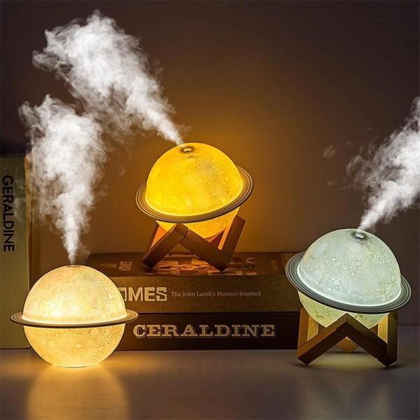 Đèn phun sương hình quả cầu kiêm đèn ngủ  ánh sáng nhẹ nhàng lung linh