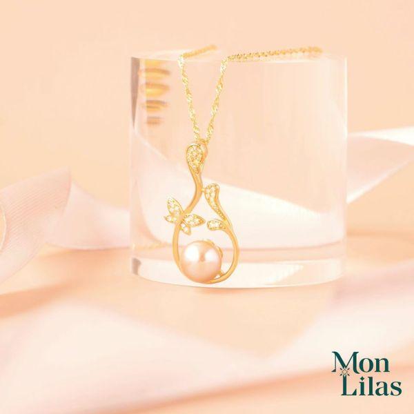 Dây chuyền bạc nữ đẹp thiết kế đính ngọc trai D0320006 - Trang Sức Mon Lilas