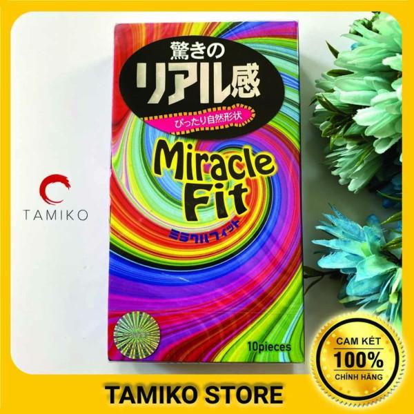 Bao Cao Su SAGAMI MIRACLE FIT Siêu Mỏng Ôm Sát 49mm -  Nhật Bản- Hộp 10 Cái nhập khẩu