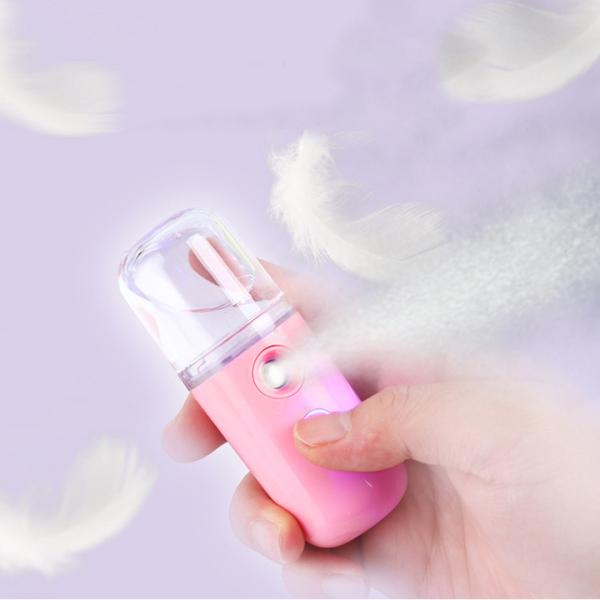 Bảng giá Máy phun sương 30ml - Tạo độ ẩm - Dưỡng ẩm - Máy phun sương nano mini cầm tay - Hai màu : Trắng , hồng Điện máy Pico