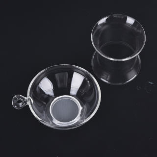 1x bộ lọc trà thủy tinh có tay cầm, cho lá lỏng lẻo dụng cụ pha trà rây lọc trà - hình 2