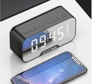 Loa Bluetooth Kiêm Đồng Hồ Báo Thức K10 Mặt Gương Sáng Bóng, Sang Trọng, Bảo Hành 1 Đổi 1 thumbnail