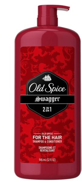 Dầu gội và xả 2 trong 1 cho nam Old Spice Swagger 2 in 1 Shampoo and Conditioner 946ml (Mỹ) giá rẻ
