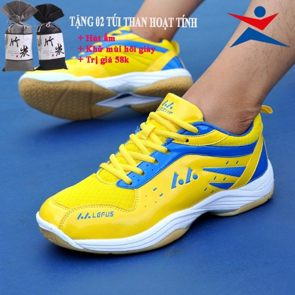 Giày cầu lông Lefus L05 chuyên nghiệp, chống lật cổ chân, Bảo hành 12 tháng - Giày Bóng chuyền, giày thể thao
