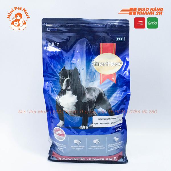 [3kg] Thức ăn hạt cho chó giống lớn SMARTHEART Power Pack