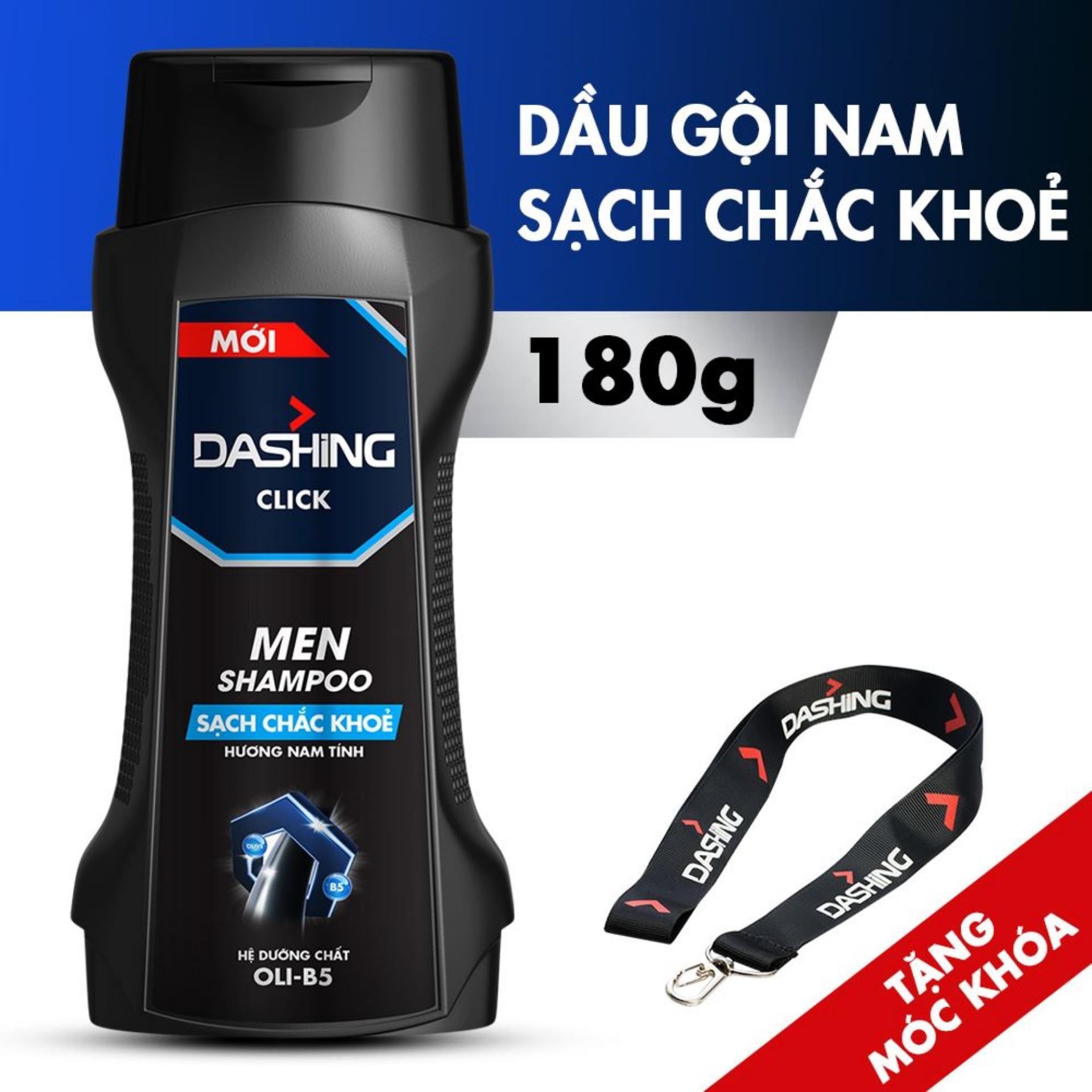 [Tặng dây đeo thời thượng] Dầu gội cho tóc sạch chắc khỏe dành cho nam giới Dashing Click Men Shampoo 180g