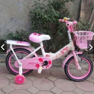 xe đạp trẻ em - xe đạp cho bé gái - dành cho bé 2-6 tuổi - mẫu mới khung vành bằng sắt siêu trắc chắn bánh 12 thumbnail
