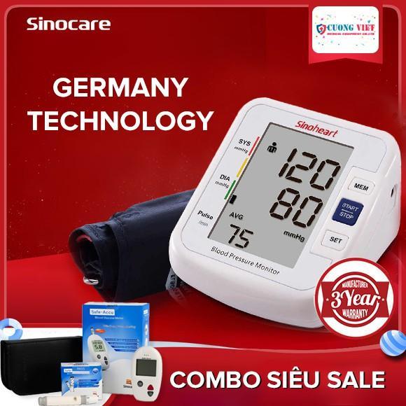 Nơi bán Bộ Máy đo huyết áp bắp tay Sinoheart BA-801 và Máy đo đường huyết Safe Accu Sinocare