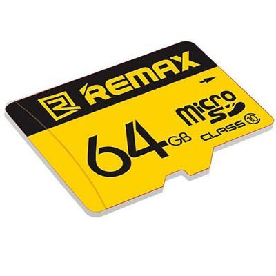 Thẻ nhớ 64GB Micro SDHC Class 10 thương hiệu Remax màu vàng dễ nhận diện cho điện thoại , Camera