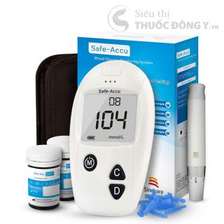 Máy đo đường huyết SAFE-ACCU SINOCARE tặng kèm 25 que thử ,25 kim chích máu thumbnail