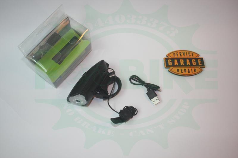 Mua Đèn Còi thông minh sạc USB 2 chức năng cho xe đạp.