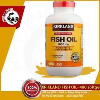 Viên Bổ Sung Giúp Đep Da Chống Lão Hóa Sáng Mắt Dầu Cá KIRKLAND Omega3 Fish Oil 400 Viên Từ Mỹ thumbnail