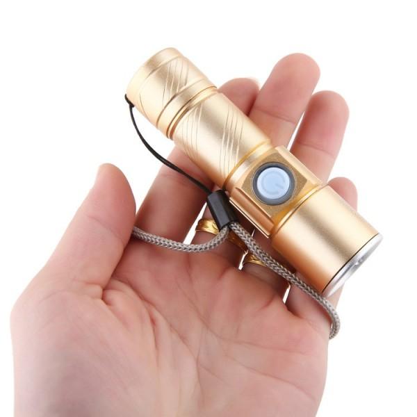 Bảng giá Đèn Pin Mini Zoom Siêu Sáng Pin Sạc USB Chip Led Cree Q5