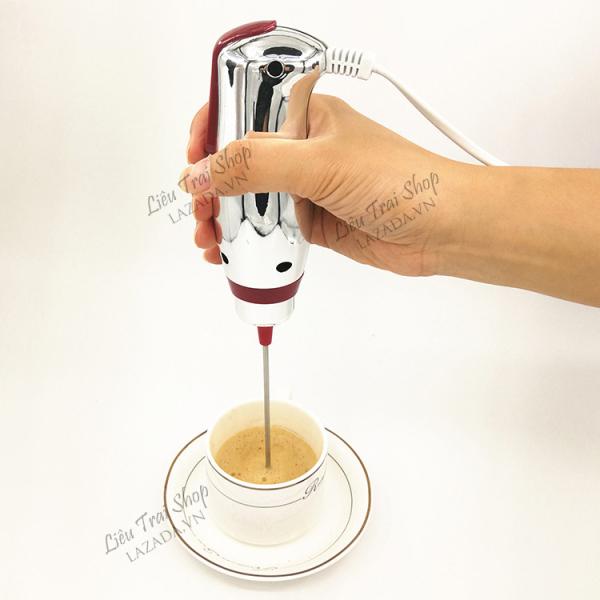 Máy  tạo bọt  sữa cà phê cafe sữa mini cầm tay 220v turbo frother milk frother frappe maker máy khuấy
