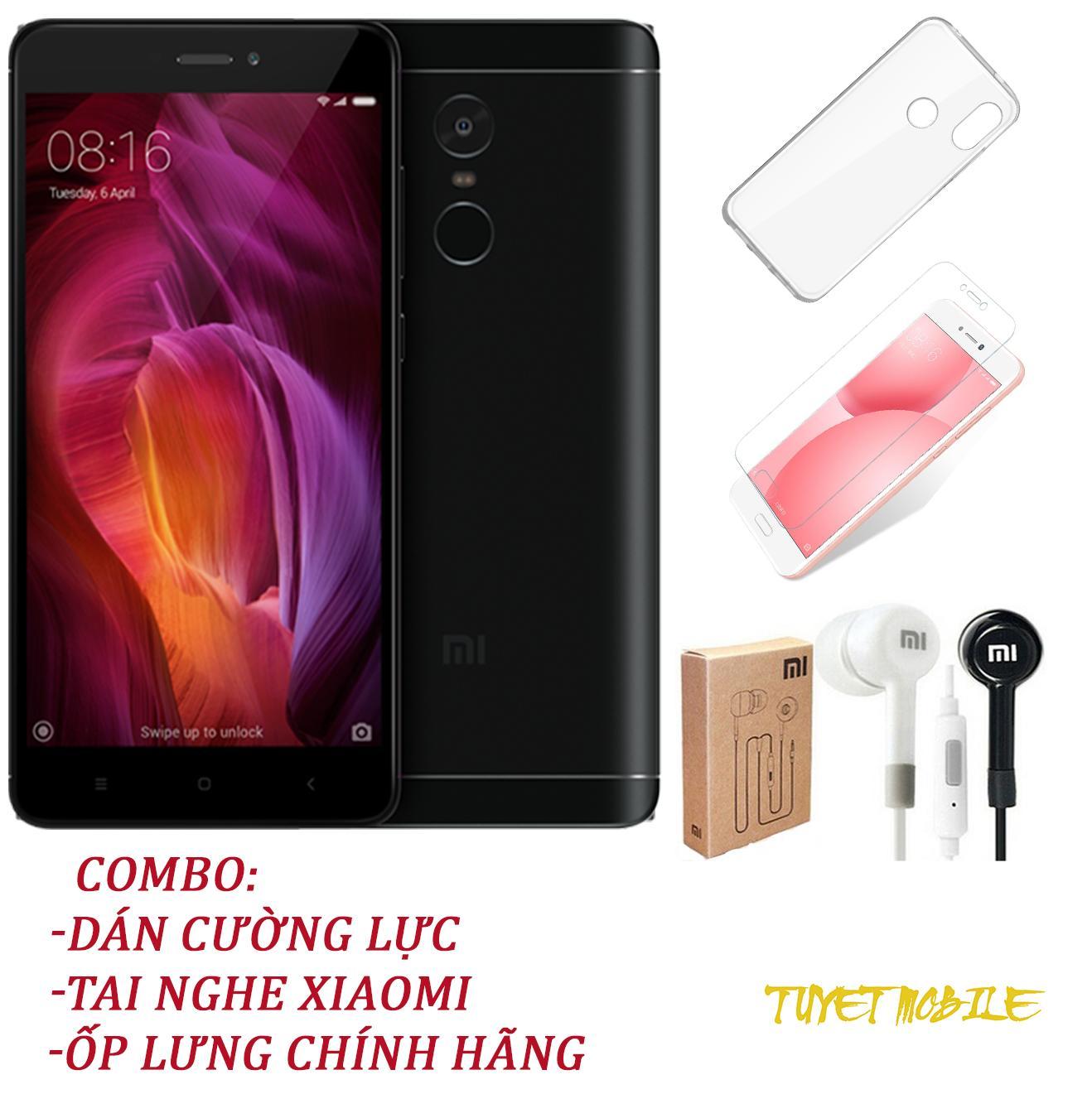 Điện Thoại Xiaomi Redmi Note4x (32GB/3G) - Tặng Kèm Kính Cường Lưc + Ốp Lưng + Tai Nghe - Có sẵn Tiếng Việt
