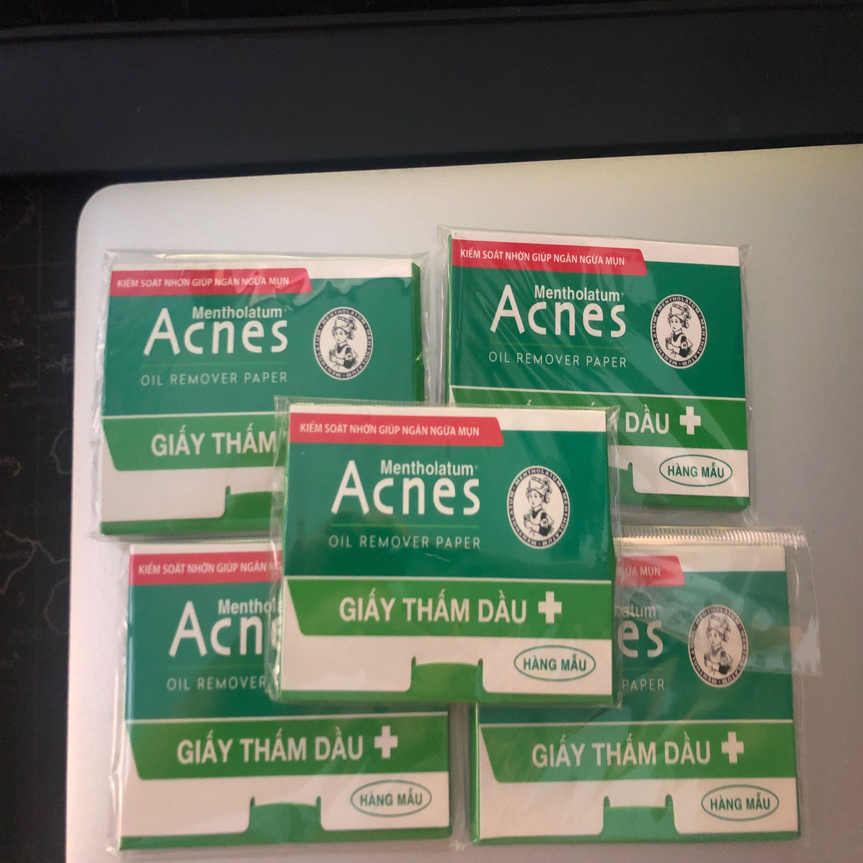 Combo 5 gói Giấy Thấm Dầu Acnes (Oil remover paper - Hàng mẫu) gói 50 tờ tốt nhất
